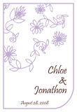 Modern Small Soft Lilac Wedding Labels