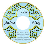 Medici CD Wedding Labels