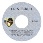 Romanesque CD Wedding Labels