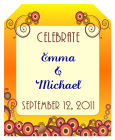 Abstract Wine Wedding Labels