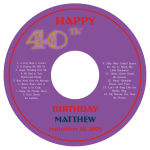 CD Age Birthday Labels 4.625X4.625