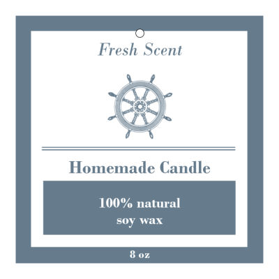 Anchor Candle Hang Tag Square, order custom Candle Hang Tag and