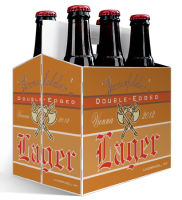 6 Pack Carrier Two Edged includes plain 6 pack carrier and custom pre-cut labels