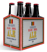 6 Pack Carrier Belgian includes plain 6 pack carrier and custom pre-cut labels