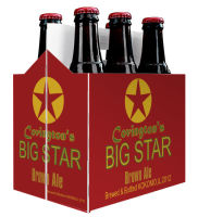 6 Pack Carrier Big Star includes plain 6 pack carrier and custom pre-cut labels