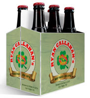 6 Pack Carrier I am Irish includes plain 6 pack carrier and custom pre-cut labels