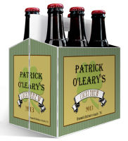6 Pack Carrier Shamrock Irish includes plain 6 pack carrier and custom pre-cut labels