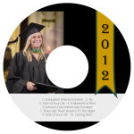 Best Wishes CD DVD Graduation Labels