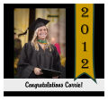 Best Wishes Square Graduation Labels