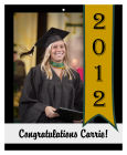 Best Wishes Vertical Big Rectangle Graduation Hang Tag