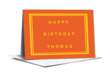 Simple Border Birthday Note Card