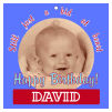 Kid Square Birthday Favor Tag