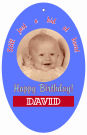 Kid Oval Birthday Favor Tag