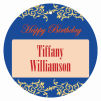 Border Circle Birthday Favor Tag