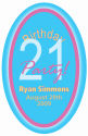Oval Party Birthday Label