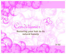 Bubbles Personalized Big Square Bath Body Label