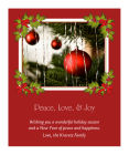Holly Jolly Vertical Big Rectangle Label