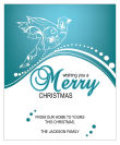 Vertical Big Rectangle Swirl Dove Christmas Labels
