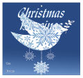 Big Square Hanging Dove To From Christmas Hang Tag