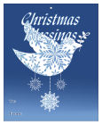 Big Rectangle Hanging Dove Christmas To From Hang Tag