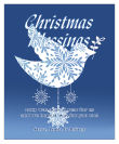 Vertical Big Rectangle Hanging Dove Christmas Labels