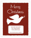 Vertical Big Rectangle Red Dove Christmas Labels
