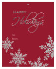 Big Rectangle Snowflakes Christmas To From Hang Tag