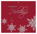 Big Square Snowflakes To From Christmas Hang Tag