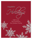 Vertical Big Rectangle Snowflakes Christmas Labels