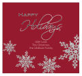 Big Square Snowflakes Christmas Labels