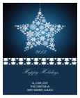 Vertical Big Rectangle Large Star Christmas Labels