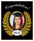 Crest Vertical Big Rectangle Graduation Labels