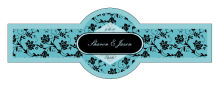 Floral Cigarband 3.27x1.16