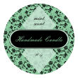 Floral Big Candle Round Labels