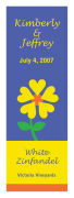 Love Flower Large Vertical Rectangle Wine Labels 2x6.25