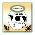 Cow Patch Large Square Food & Craft Label