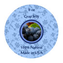 Grape Jelly Wide Mouth Ball Jar Topper Insert