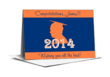 School Spirit Graduation Note Card