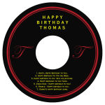 CD Simple Initial Birthday Labels