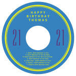 CD Simple Age Birthday Labels