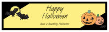 Corner Clipart Halloween Water bottle Labels 7x1.875