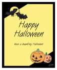 Corner Clipart Halloween Big Rectangle Favor Tag 3.25x4