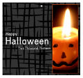 Side Halloween Big Square Favor Tag 3.5x3.25