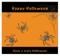 Spider Halloween Big Square Favor Tag 3.5x3.25