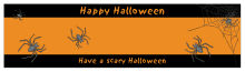 Spider Halloween Water bottle Labels 7x1.875