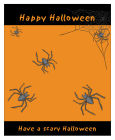 Spider Halloween Big Rectangle Favor Tag 3.25x4