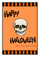 Striped Border Halloween Vertical Rectangle Labels 1.875x2.75