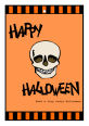 Striped Border Halloween Vertical Rectangle Favor Tag 1.875x2.75