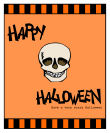 Striped Border Halloween Big Rectangle Labels 3.25x4