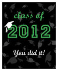 Hats Off Vertical Big Rectangle Graduation Labels